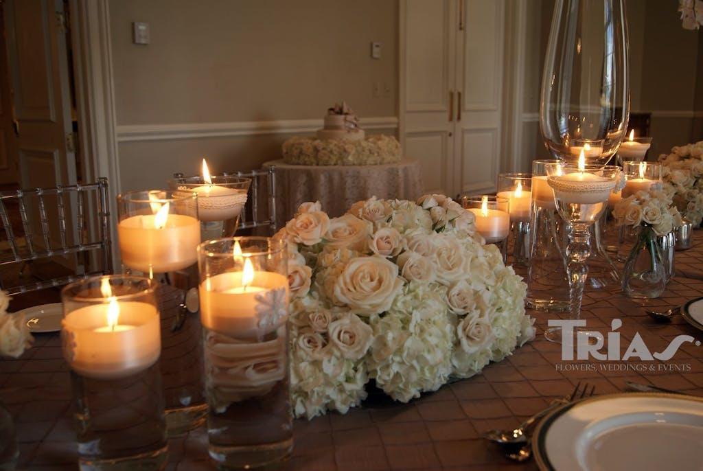 Trias Flowers & Gifts Miami Wedding Salon Bridal Show Table Setting 2