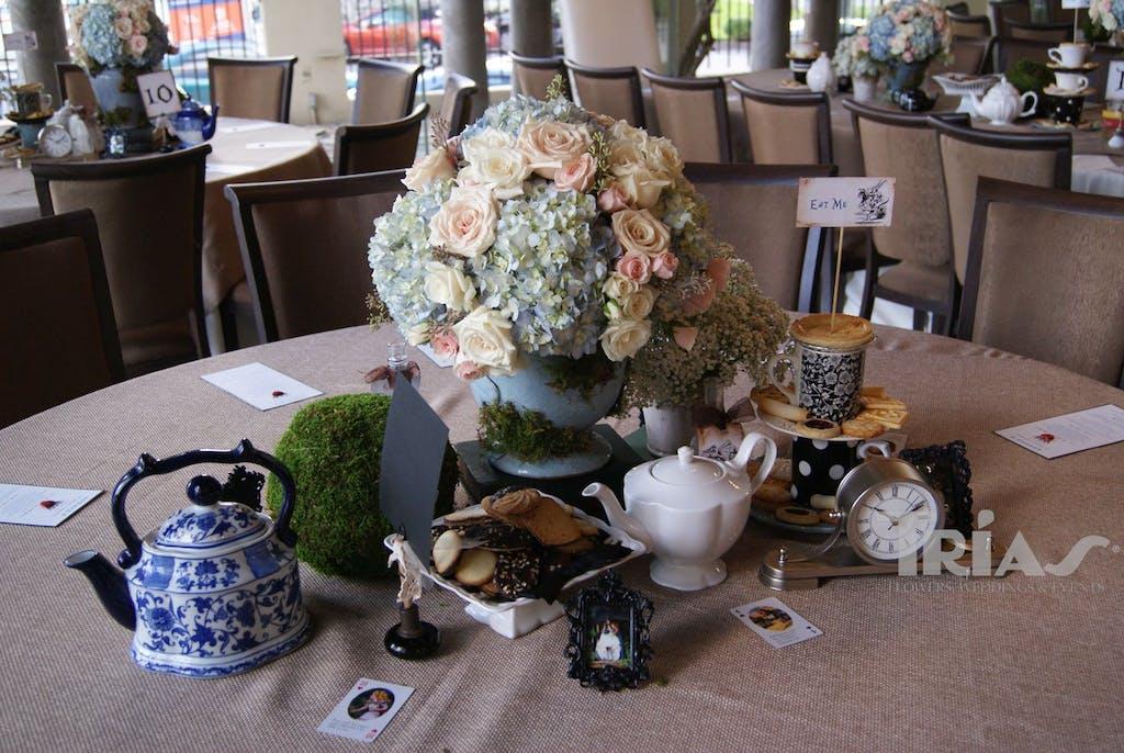 Trias Flowers & Gifts Miami Wedding Salon Bridal Show 2013 Table Setting 4